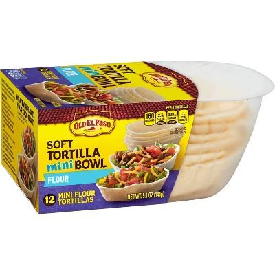 Old El Paso Soft Flour Tortilla Mini Bowls - 5.1oz/12ct