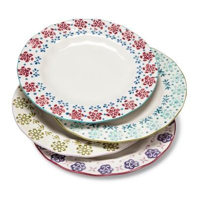 Abigail Floral 4pc Salad Plate 8.3 x8.3