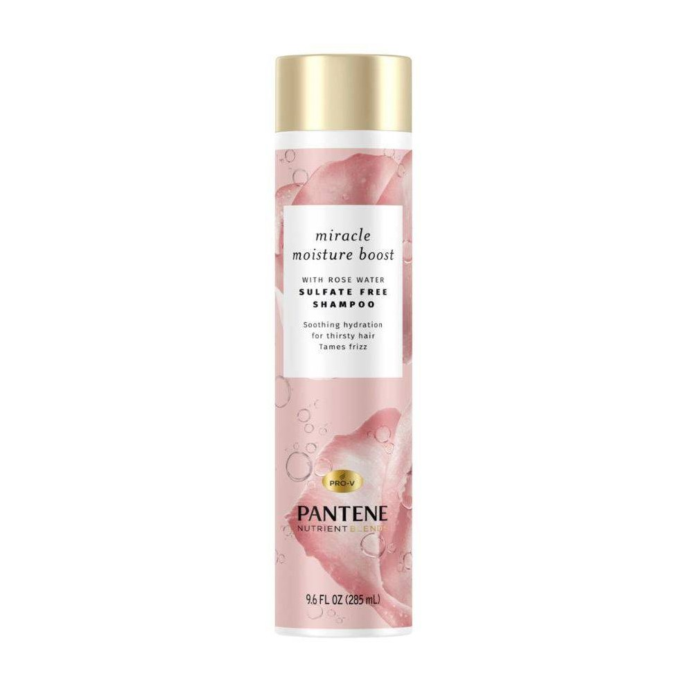 Image of Pantene Blends Moisture Boost With Rosewater Shampoo - 9.6 fl oz