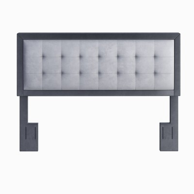 Full/Queen Harlow Button Tufted Velvet Upholstered Adjustable Headboard - Eco Dream