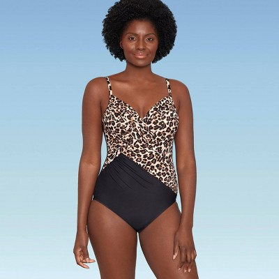 Women's Slimming Control Cross Front One Piece Swimsuit - Dreamsuit by Miracle Brands