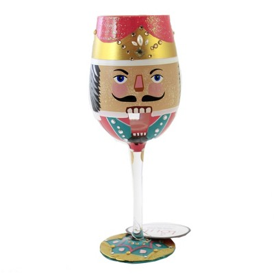 "Tabletop 9.0"" My Wine Guardian Lolita Stemmed Wine Glass Christmas Enesco  -  Drinkware"