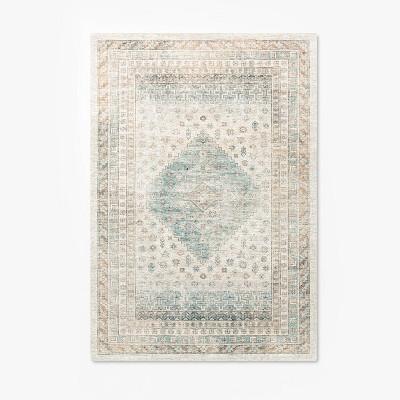 7'x10' Creek Crest Woven Diamond Persian Rug Neutral - Threshold™ designed with Studio McGee