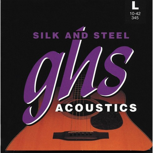 GHS 345 Silk and Steel Acoustic Guitar Strings Light - image 1 of 1