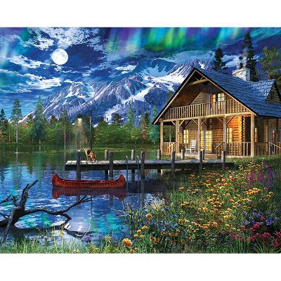 Springbok Moon Cabin Retreat Jigsaw Puzzle 1000pc