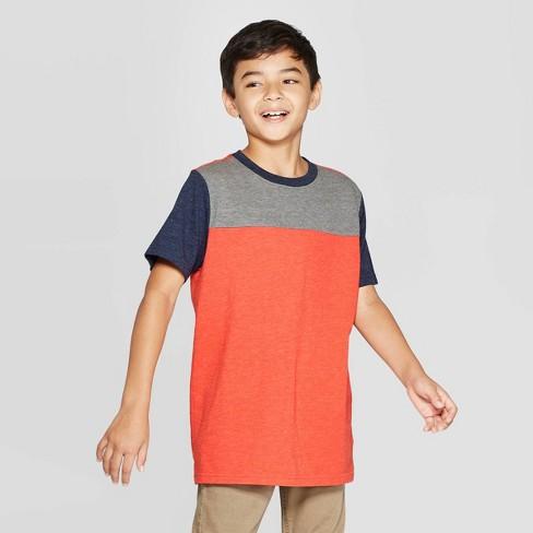 Boys' Short Sleeve T-Shirt - Cat & Jack™ Orange - image 1 of 3