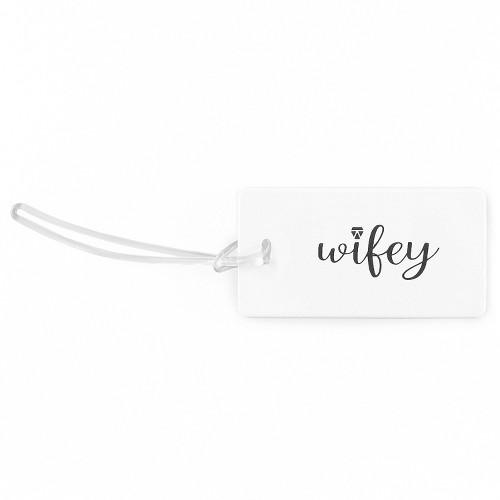 Wifey Luggage Tag White Black
