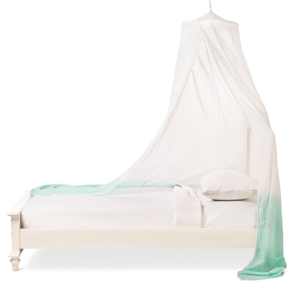 Image of Dip-Dye Bed Canopy - Turquoise - Pillowfort , Green