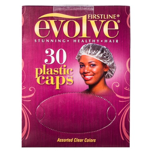 Firstline® Evolve® Plastic Hair Caps - Assorted Clear Colors (30 ct) - image 1 of 1