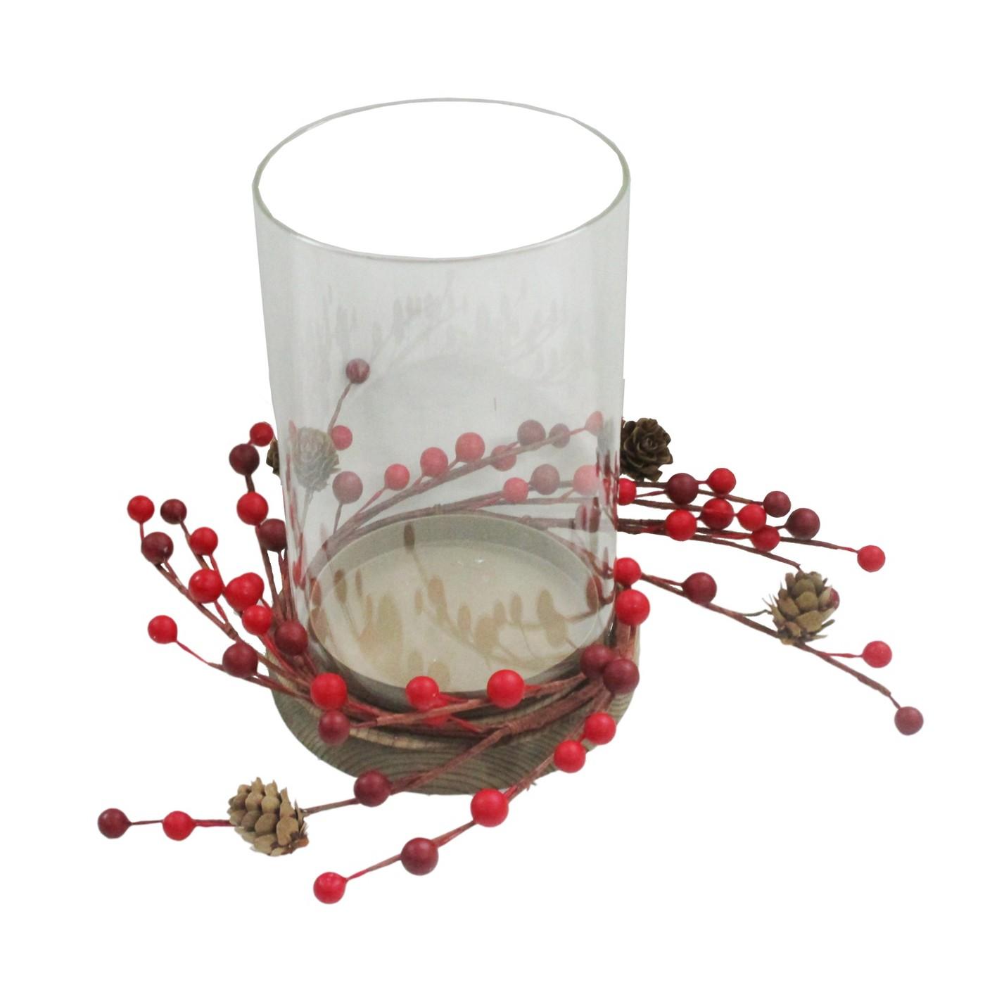 Glass Candle Vase with Berries - Wondershop™ - image 1 of 1