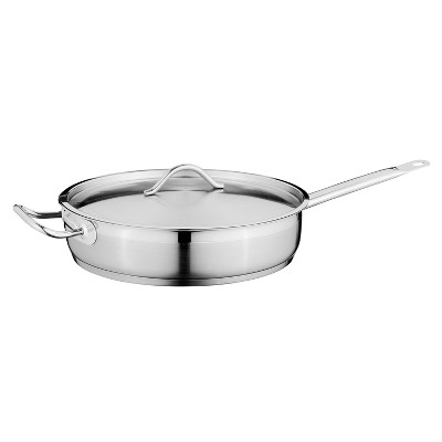 "BergHOFF Hotel 11"" 18/10 Stainless Steel Covered Deep Skillet 4.2 Qt"