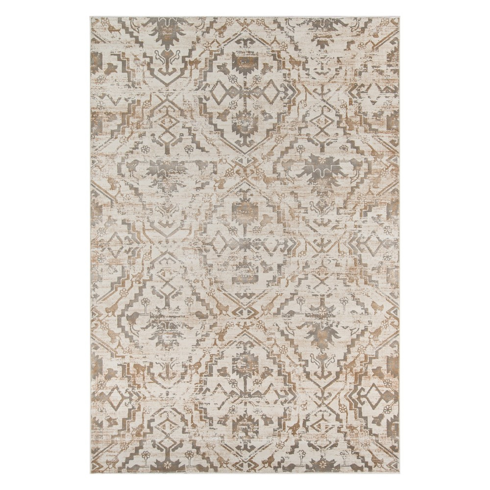2'X3' Damask Loomed Accent Rug Copper - Momeni, Brown White