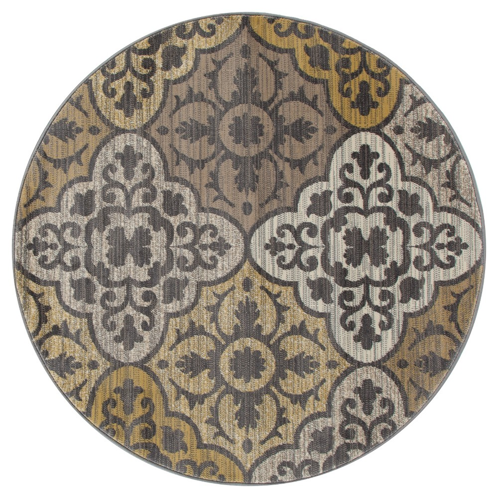 Image of 5' Damask Runner Yellow - Art Carpet