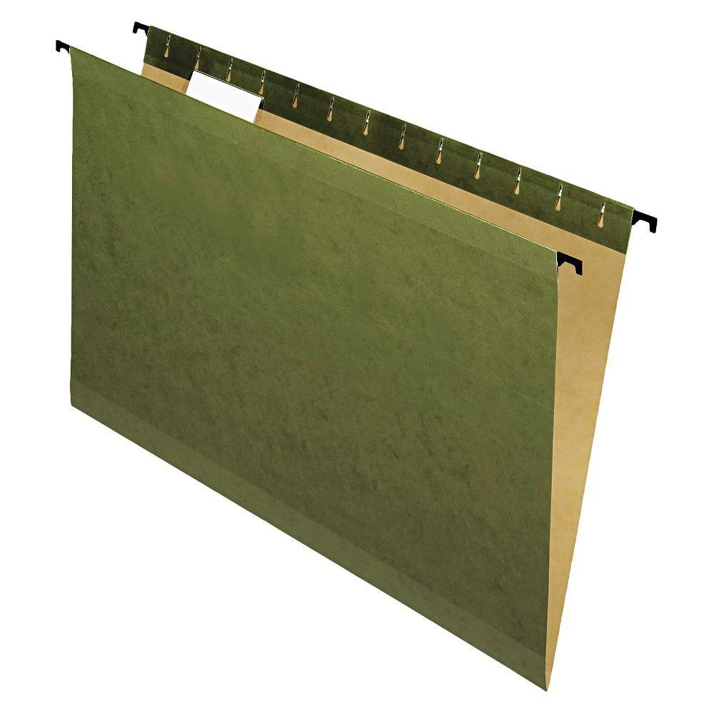 Pendaflex SureHook Poly Laminate Hanging File Folders, Legal, Green, 20/Box