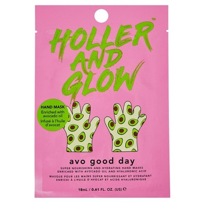 Holler and Glow Avo Good Day Nourishing and Hydrating Hand Mask – 0.61 fl oz