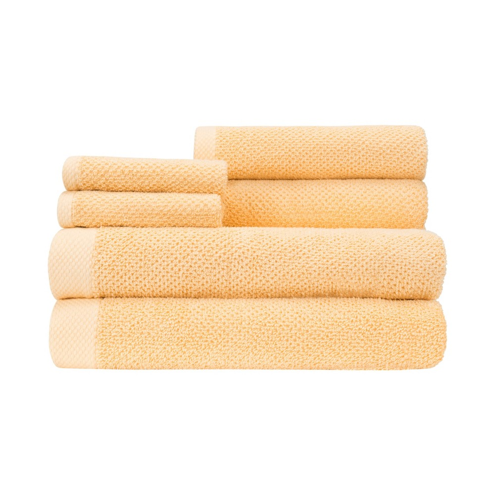 Image of 6pc Adele Towel Set Yellow - Caro Home