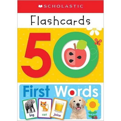 50 First Words Flashcards -  (Scholastic Early Learners) (Paperback)