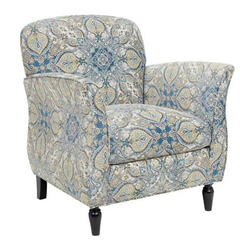 Denton Accent Chair Blue/Brown - image 1 of 4