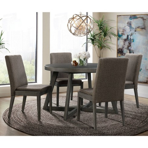 5pc Hudson Dining Set Gray Picket, Hudson Dining Room Furniture