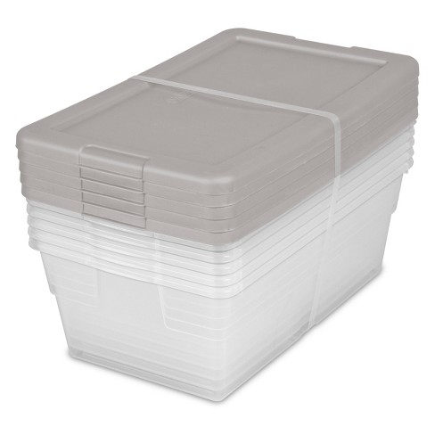 6qt Shoe Box 5pk with Gray Lid - Room Essentials™ - image 1 of 4