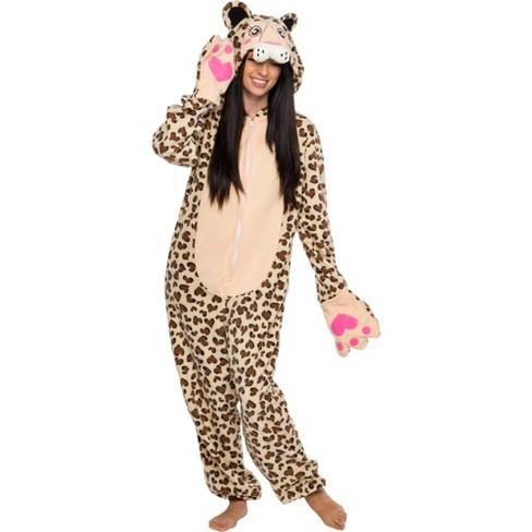 Funziez! Leopard Slim Fit Women's Novelty Union Suit - image 1 of 4