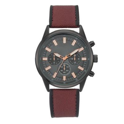 Men's Gunmetal Strap Watch - Goodfellow & Co™