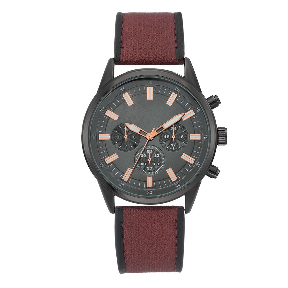Men's Gunmetal Strap Watch - Goodfellow & Co Red/Gunmetal