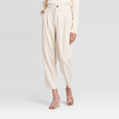 Women's Mid-Rise Straight Leg Pleat Front Trousers - Who What Wear™ Yellow