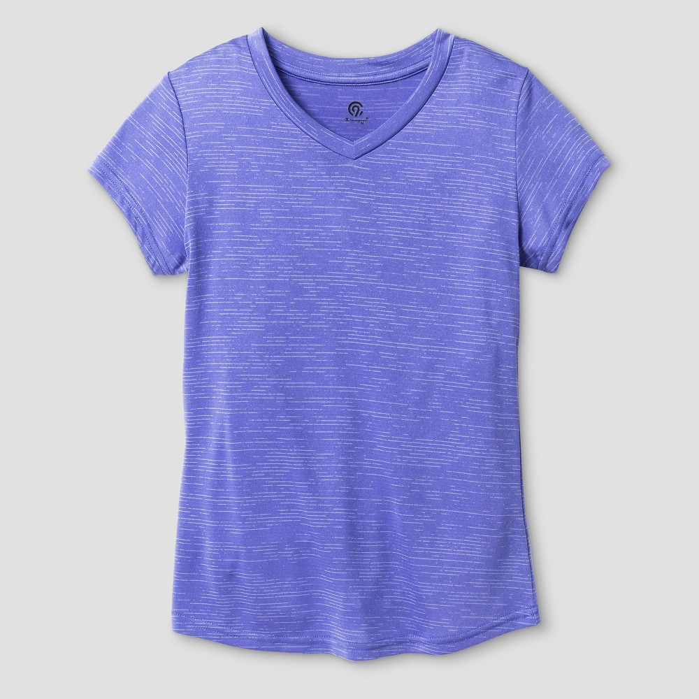 Girls' Digital Stripe Tech T-Shirt - C9 Champion Lavender (Purple) XL