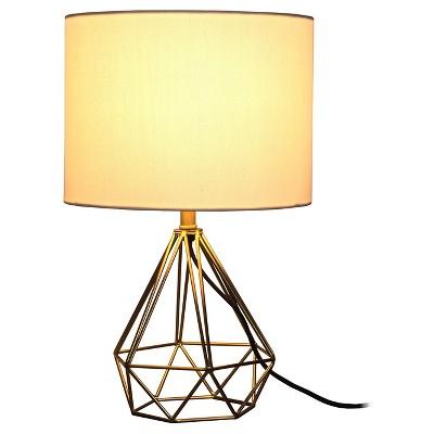Geometric Metal Small Table Lamp   Room Essentials™ : Target