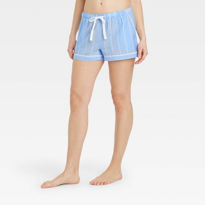 Women's Striped Simply Cool Pajama Shorts - Stars Above™ Blue