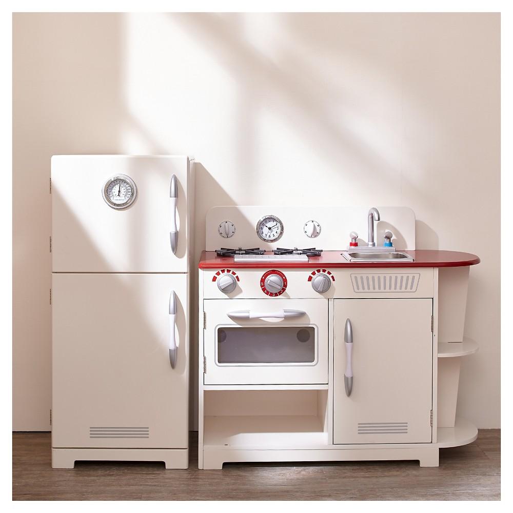 Teamson Kids Classic Play Kitchen - White (2pc)