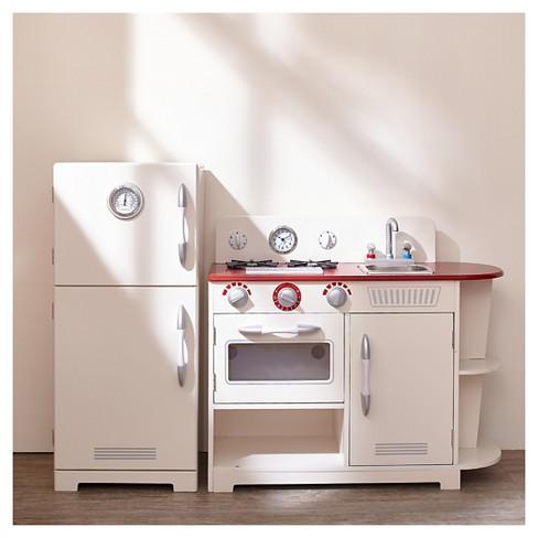 Teamson Kids Clic Play Kitchen White 2pc