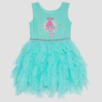Toddler Girls' Trolls Poppy Ballerina Dress - Aqua 2T