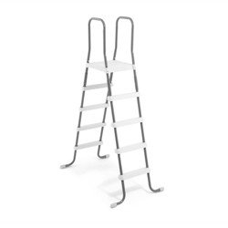 """Intex 28067E Steel Frame Above Ground Swimming Pool 52"""" Ladder for Depth Pools"""