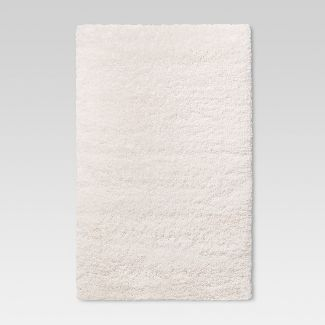 "4'x5'6"" Cream Plush Shag Washable Accent Rug - ? - Room Essentials™"