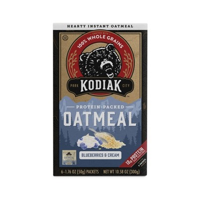Kodiak Cakes Blueberries and Cream Instant Oatmeal Packets - 10.58oz/6ct