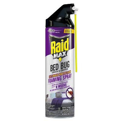 Raid Max Extended Protection Bed Bug Crack & Crevice Foaming Spray - 17.5oz/1ct