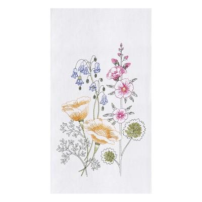 C&F Home Floral Garden Flour Sack Embroidered Cotton Kitchen Towel
