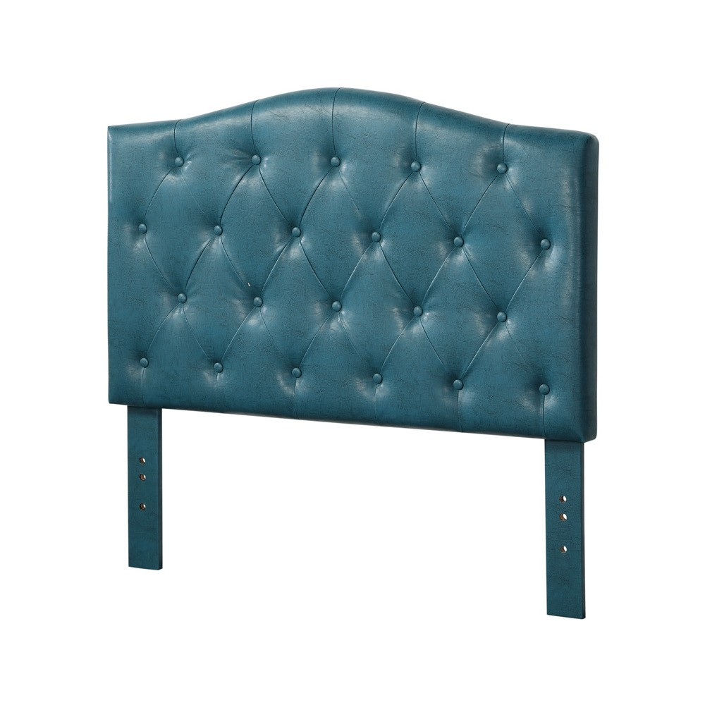 Viola Queen/Full Headboard Blue Faux Leather - Acme