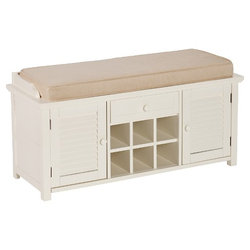 Excellent Alana Entryway Bench With Storage White Aiden Lane Short Links Chair Design For Home Short Linksinfo