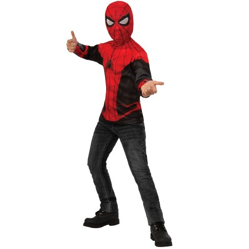 Rubies Spider-Man Far From Home: Spider-Man Costume Top (Red/Black Suit) Costume (Size S) - image 1 of 1