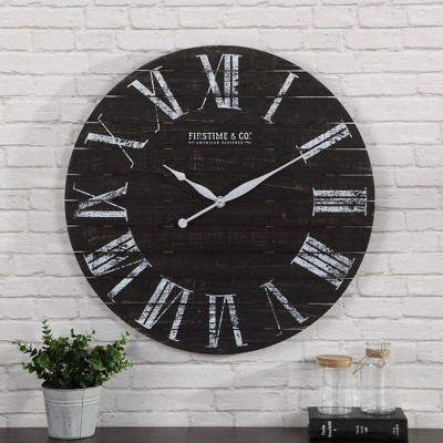 Firstime & Co. Midnight Planks Wall Clock