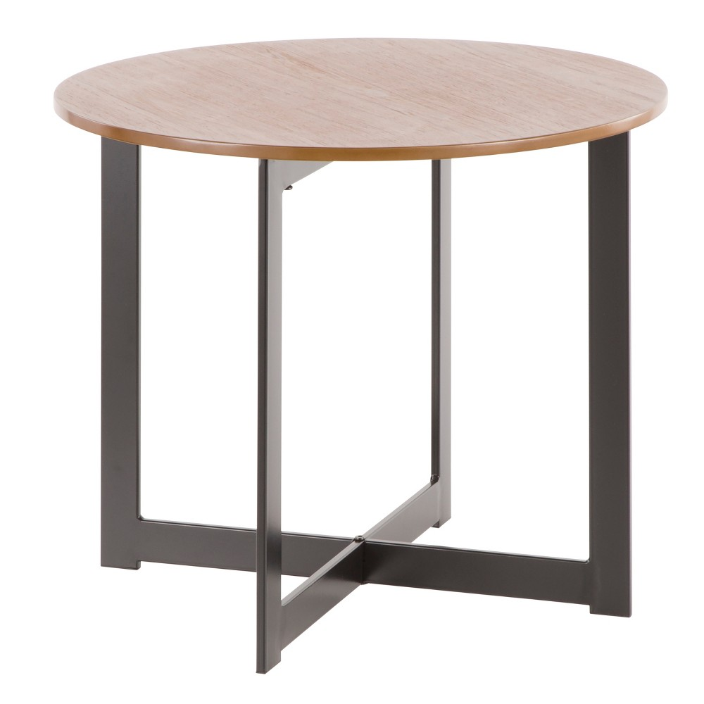 "Image of ""18"""" Cosmopolitan Industrial End Table Walnut - LumiSource, Brown"""