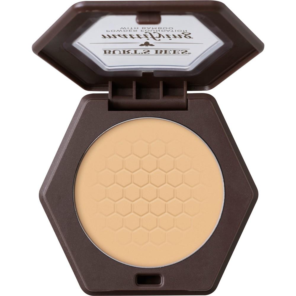 Image of Burt's Bees 100% Natural Mattifying Powder Foundation - 1105 Bare - 0.3oz