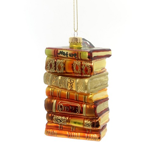 """Holiday Ornament 4.5"""" Stacks Of Books Teacher Reading  -  Tree Ornaments - image 1 of 3"""
