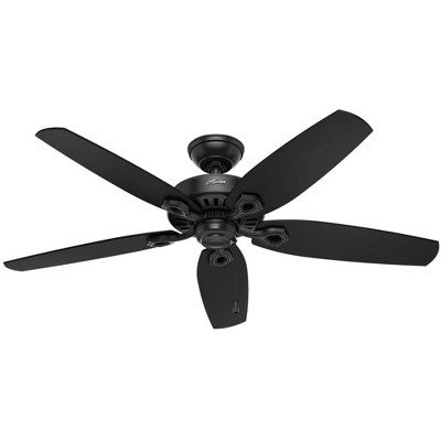 Hunter Fan Company 53294 Builder Elite Versatile Indoor/Outdoor 52 Inch Ceiling Fan without Light Fixture, Matte Black