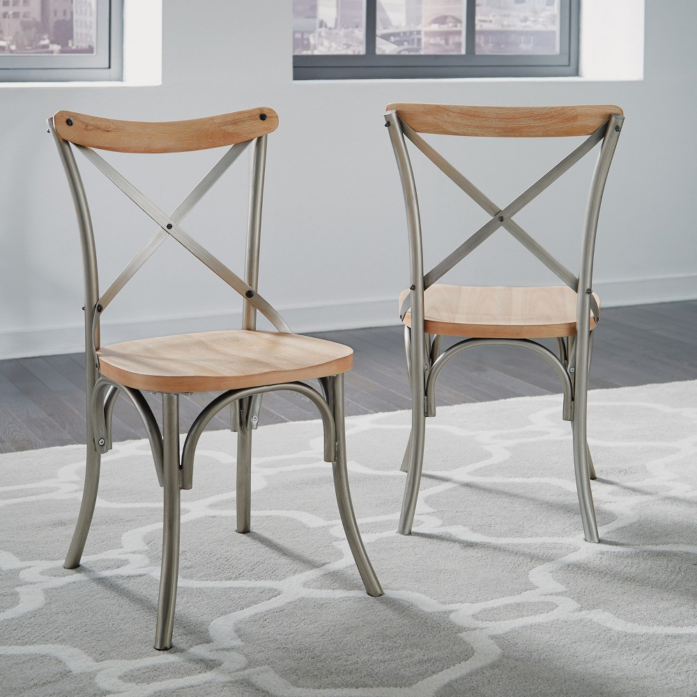 French Quarter Dining Chairs Aged White Washed Set of 2 - Home Styles