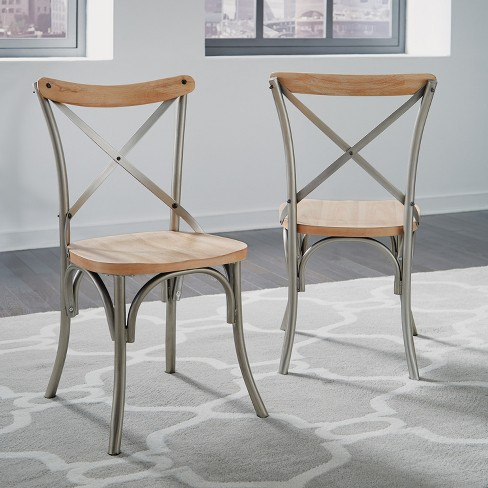 French Quarter Dining Chairs Aged White Washed Set of 2 - Home Styles - image 1 of 2