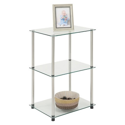 3 Tier Glass Square End Table   Convenience Concepts : Target